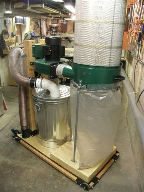 harbor freight dust collector conversion shop dust