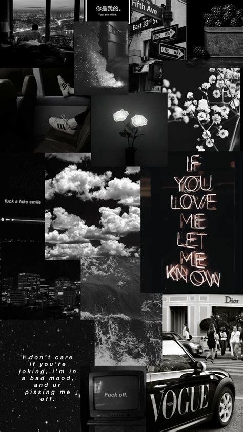 black aesthetic background collage phone aesthetic