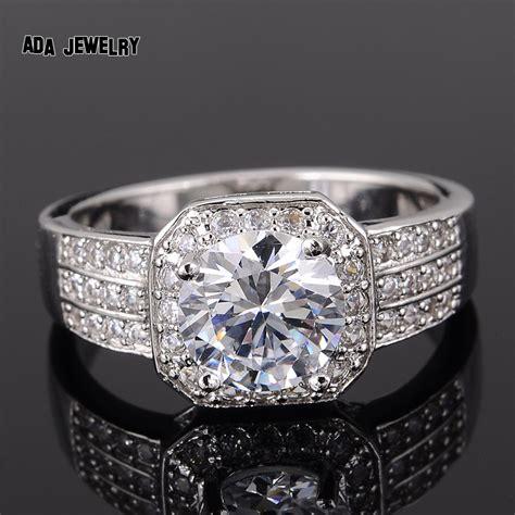 zircon rings  women wedding ring big crystal jewelry