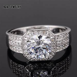 zircon rings for women wedding ring big crystal jewelry With wedding bands for large engagement rings