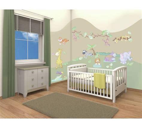 buy walltastic baby jungle safari room decor kit  argos