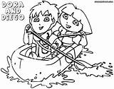 Dora Diego Coloring Pages Cartoon Print sketch template