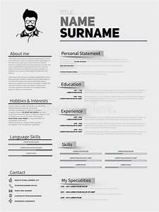 Resume Minimalist Cv  Resume Template With Simple Design