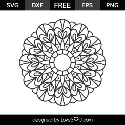 Almost files can be used for commercial. Mandala | Lovesvg.com
