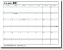 september printable calendar print