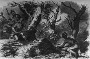 Indian warriors ambush and defeat General Braddock's army ...