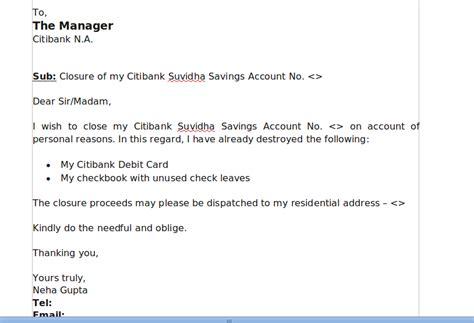 citibank account closure  visiting branch