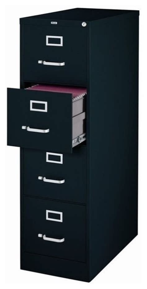 hirsch file cabinets 4 drawer hirsh industries 4 drawer letter file cabinet in black