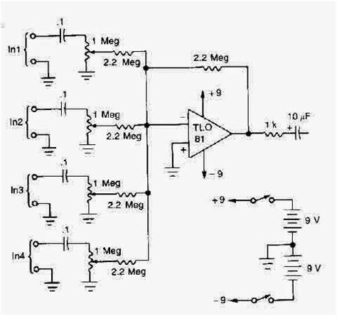 Based Microphones Mixer Circuit Diagram