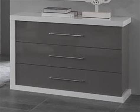 commode chambre blanc laqué commode gris laque kissic com