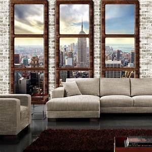 Tapete fenster my blog for Markise balkon mit new york tapete poco