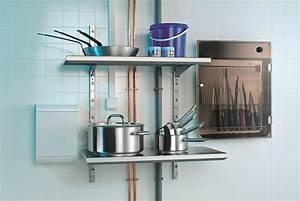 Etagere Cuisine Murale : etag re murale modulable pour ustensiles de cuisines matfer ~ Teatrodelosmanantiales.com Idées de Décoration