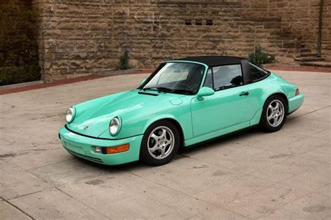 porsche mint green mint green 1992 porsche 911 carrera 2 targa revisit