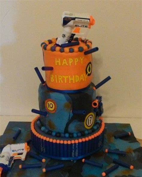 nerf cake   boys cakecentralcom