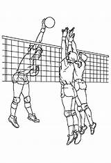 Coloring Volleyball Pages Sports Cool Cute Colouring Too Play Drawing Doghousemusic Summer sketch template
