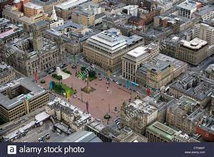 Aerial View Of George Square Glasgow With The City
