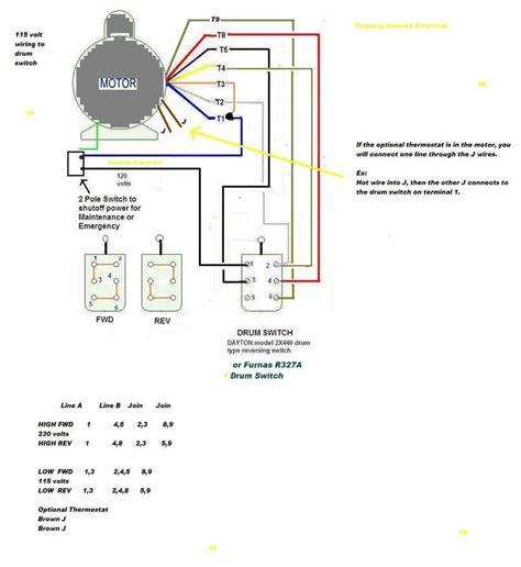 weg wiring diagram single phase motor at ac electric on