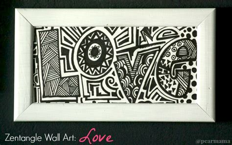 your own zentangle wall quot quot pearmama