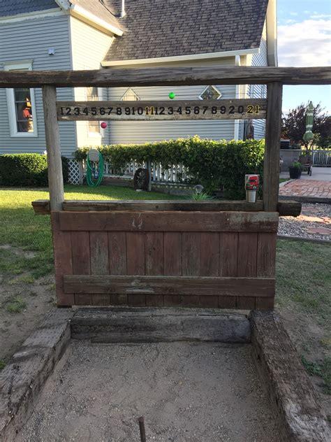 pin  tammy barrett  horseshoe pit ideas backyard