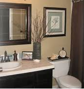 Bathroom Decorations by Quick Guest Bath Makeover Total Cost 240 Chocolate Brown Blue Ta