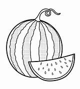 Watermelon Coloring Pages Fresh Sheets Fruit Coloringpagesfortoddlers Colouring Slice Triangle Summer Drawing Preschool Open Gaddynippercrayons sketch template