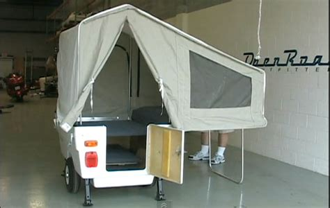 Small Pop Up Camper Motorcycle Tent Trailer