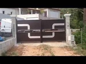 Porte De Garage Automatique : portail design automatique install par apg acc s portes ~ Dailycaller-alerts.com Idées de Décoration