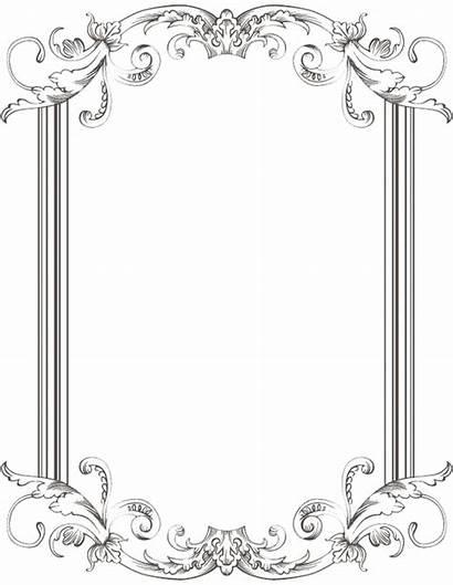 Border Frame Frames Clipart Custom Transparent Clip