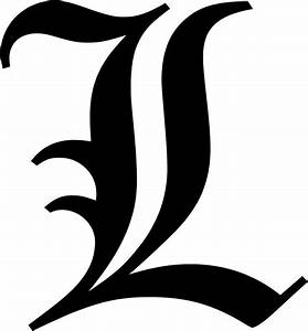 """Old English Letter L Initial Decal 9 75"""" choose color! eBay"""