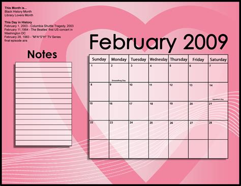 inksellcom fun project february  calendar