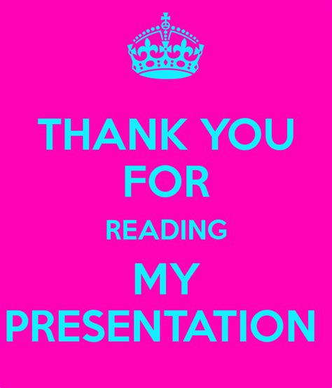 thank you for your time to read my resume thank you for reading my presentation poster loulou keep calm o matic