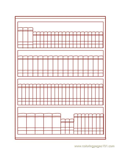 book shelf coloring page  books coloring pages