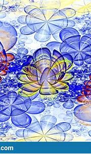 Abstract Fractal Computer-generated Glowing 3d Blue ...