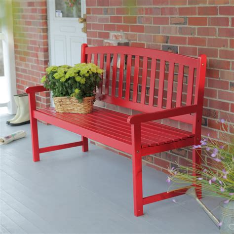 Wood Porch Bench - coral coast pleasant bay 5 ft slat curved back outdoor
