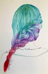 Mermaid Hair Drawing