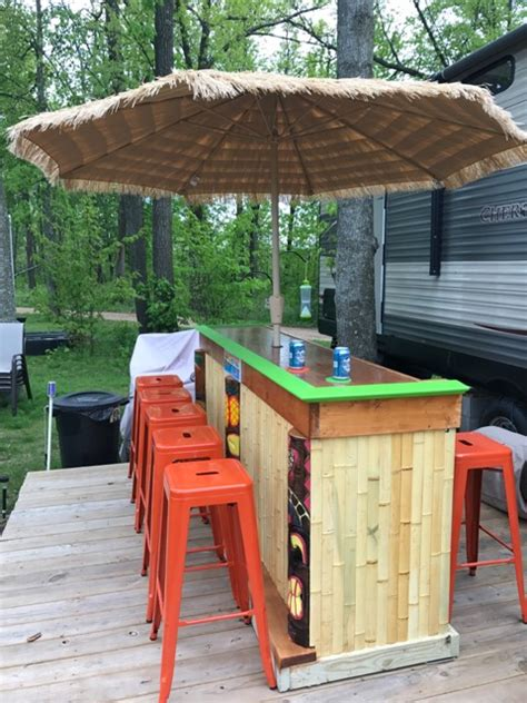 Backyard Tiki Bar by Backyard Bar Plans Easy Home Bar Plans