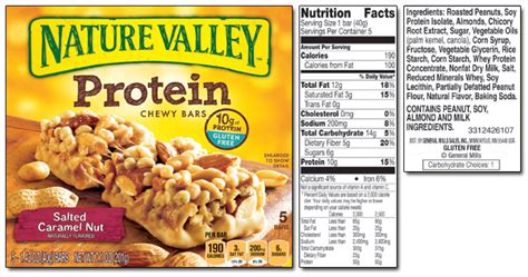 nature valley chewy granola bar nutrition facts