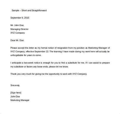 two weeks notice letter 33 two weeks notice letter templates pdf doc free premium templates