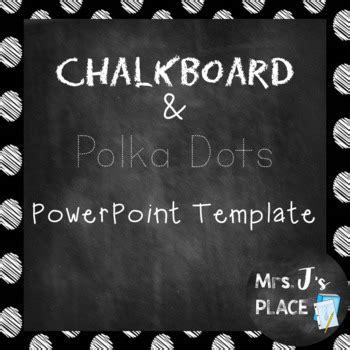 chalkboard  polka dots powerpoint template   js