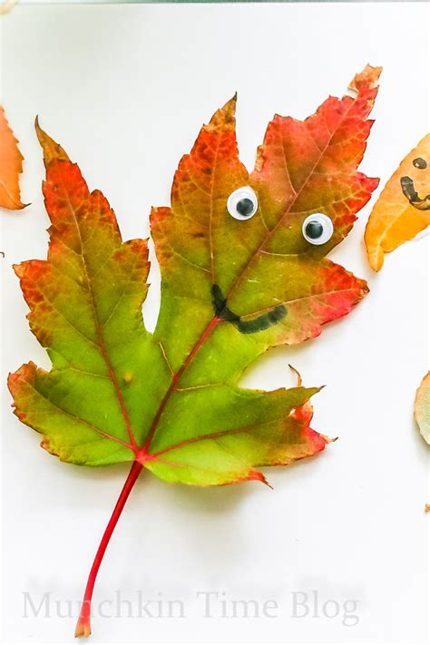 super cute leaf art  kids