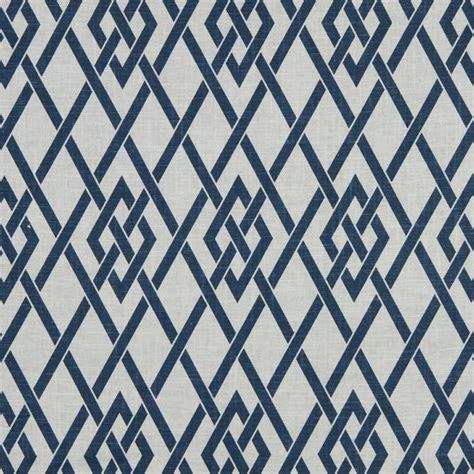 navy blue white trellis upholstery fabric blue geometric