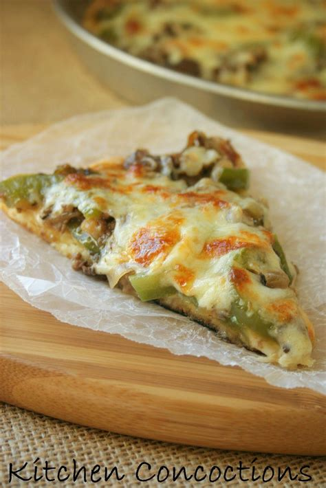 kitchen concoctions philly cheesesteak pizza  pizza