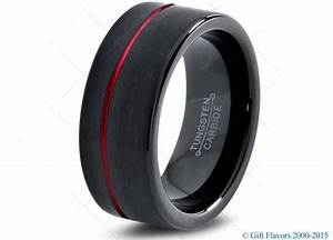 black tungsten ring red men tungsten rings red wedding With red wedding rings for men