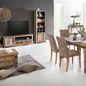Tv Möbel 120 Cm Breit : tv lowboard largo 120cm breit aus massivholz im vintage look ~ Bigdaddyawards.com Haus und Dekorationen
