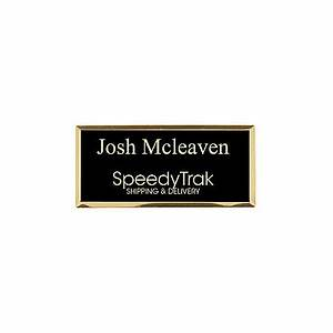 engraved metal name badge 1 14 x 2 34 blackgold by office With custom name badges office depot