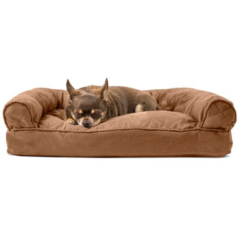 pet bed furhaven quilted pillow sofa bed pet bed ebay