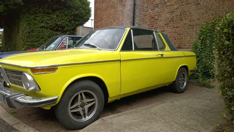 bmw 2002 cabrio baurspotting 1973 bmw 2002 yellow cabrio targa by baur