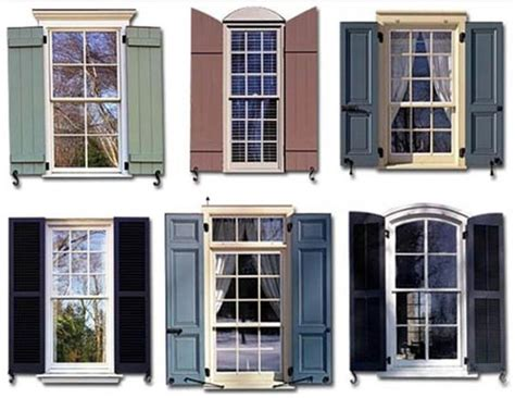 Types Of Exterior Shutters  Exteriors  Pinterest