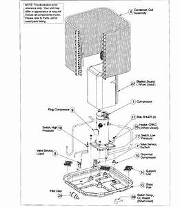 Icp Model N4a342aka300 Air Heat Pump Outside