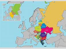 Eastern Europe Map Vector Download Free Vector Art